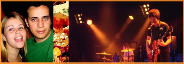 Nem para fotografar Maria Amália parava de acompanhar o som ao vivo dos Gallagher.